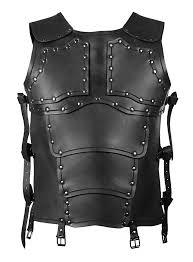leather armour mercenary torso black