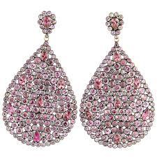 large teardrop pink diamond earrings