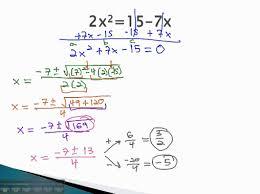 quadratic formula make equal to zero