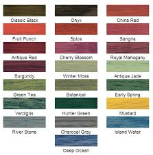 Minwax Wood Finish Color Chart Minwax Solid Color Stain Chart In 2019 Wood Stain Colors