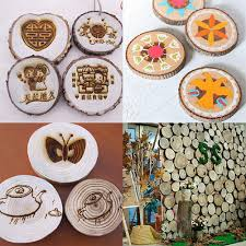 Log Crafts Nuolux Wood Log Slices Discs For Diy Crafts Wedding Centerpi