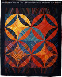 Corona 2: Solar Eclipse, © 1989 AQS Best of Show quilt by Caryl ... & Back of quilt Adamdwight.com