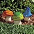 Mushroom yard decor