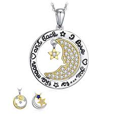 <b>JewelryPalace</b> Celestial Sun <b>Moon Star</b> Necklace Collection <b>925</b> ...