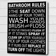 bathroom rules wall art box canvas black a3 12x16 inch cheryl monaghan http  on bathroom wall art uk amazon with bathroom rules wall art box canvas black a3 12x16 inch cheryl