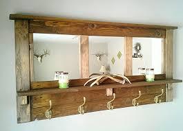 Coat Rack With Mirror And Shelf Coat rack wall coat rack mirrored coat rack rustic coat rack 10