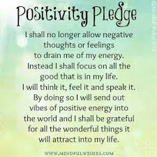 Power Of Positive Thinking Quotes Simple Positivity Pledge The Power Of Positive Thinking Quotes For