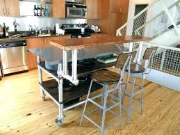 portable island with stools smart ways small space kitchen rolling marble table sinks stunning bar silver metal wood chair stove ballet barre diy