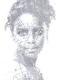 Crosshatched Ink Portrait Stencils - My Modern Metropolis - by artist Kris  Trappeniers | Cross hatching