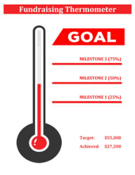 12 Fundraising Thermometer Goal Templates Free Printable
