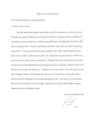 good letter of resignation good resignation letter good resignation letters cover letter sample