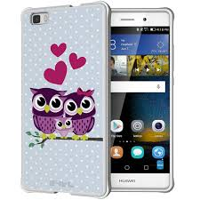 huawei p8 lite white. shtl se smooth case huawei p8 lite - owl family white