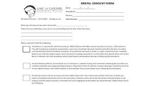 Dental Invoice Template Classy 48 Dental Consent Form Samples Free Sample Example Format Download