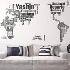 Großhandel Fußball Star Name Wandaufkleber Große Welt Karte Karte