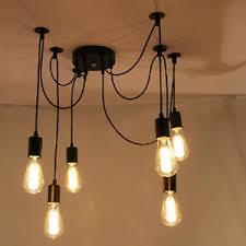 pendant lighting edison. Image Is Loading Retro-Multiple-Ajustable-DIY-Ceiling-Spider-Lamp-Light- Pendant Lighting Edison L