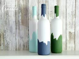 Super simple painted wine bottles!