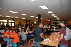 High school cafeteria Modern Students Enjoying The New Warriors Cafe Mesa Public Schools Westwood Warriors Cafeteria