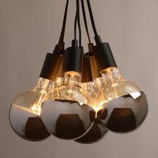 multi pendant light fitting chrome tip bulb cer lamp