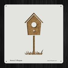 Birdhouse Stencils Designs Amazon Com Birdhouse Safe Residence Outside Outdoors Style