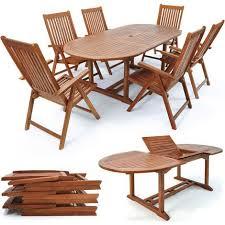 deuba wooden garden dining table and