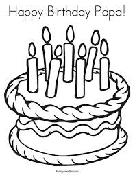 Small Picture Happy Birthday Papa Coloring Page Twisty Noodle Coloring Pages