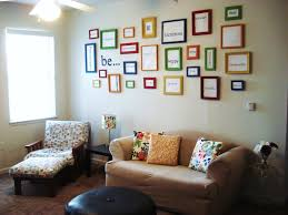 Living Room Wall Decor Eye Catching Living Room Wall Decor With Many Small Square