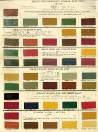 Sears Paint Color Chart Stains And Paint Colors From C 1910 Seroco Sears Paint