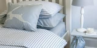 ticking stripe duvet cover blue