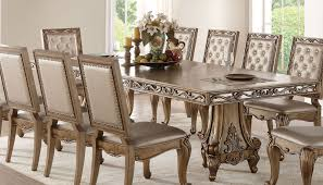 Orianne Antique Gold Double Pedestal Dining Table 1stopbedrooms