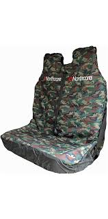 2018 northcore waterproof double van seat cover camo noco06b