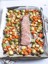 healthy sheet pan pork tenderloin with