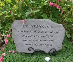 grandmother grandma memorial garden stone plaque grave marker ornament