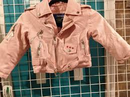 details about girls pink toddler biker jacket motorcycle size 2t girls faux leather usa eagle