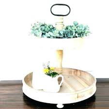 2 tier wooden tray three tiered stand 3 wood round