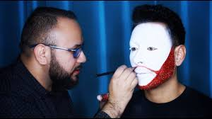 diy clown white glitter beard makeup tutorial mathias4makeup you