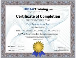 Hipaa Compliance Statement Day Translations Inc