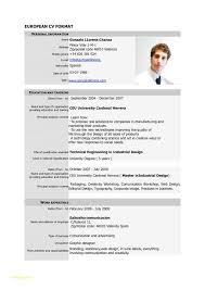 Resume Templates Doc Free Download With Free Download Cv Europass