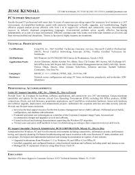 Resume Template Technical Support Specialist Resume Sample