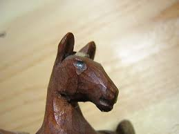 antique hand carved wooden horse pony miniature wood carving old vintage 467717033