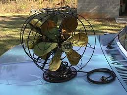 what is known among collectors as a partners desk fan or a double head fan you ve seen the partners desks where two people sit at the same desk facing