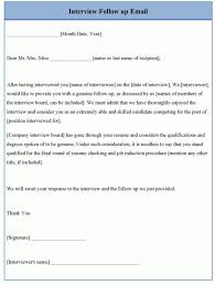 Follow Up Email Example Interview Follow Up Email Email