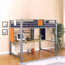 bunk bed desk loft bed with desk teen trends full size metal loft bed with desk