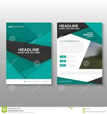 design proposal layout abstract green vector leaflet brochure flyer business proposal