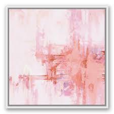 Diy Wrought Studio blush Pink Abstract Framed Graphic Art Print On Canvas Wayfair Craftionary Wrought Studio blush Pink Abstract Framed Graphic Art Print On