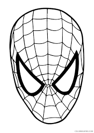 Top spiderman coloring pages for kids: Spiderman Coloring Pages Mask Coloring4free Coloring4free Com