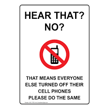 Turn Off Cell Phone Do The Same Sign Nhe 17878 Cell Phones