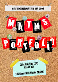 cover pages ~ xinyun cover page for maths portfolio