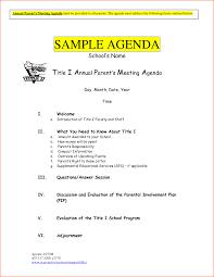 6 Sample Meeting Agenda Template Bookletemplate Org