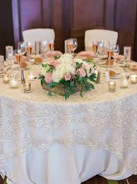image of wedding table linens round