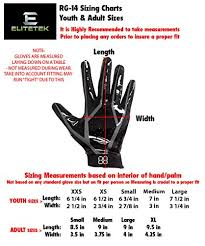 Youth Glove Size Chart Football Elitetek Rg 14 Football Gloves Youth And Adult Red Sz Youth Xs Check Back Soon